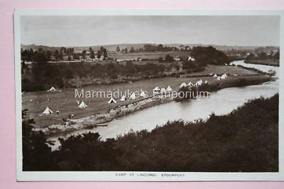 Worcestershire : Camp at Lincombe Stourport - Super Original Real Photo Postcard