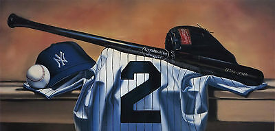 Derek Jeter New York Yankees Art Print / Litho LTD.ED. signed by Bill Williams