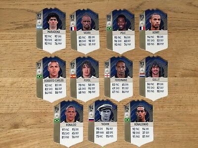 Fifa 18 Icons/legends Real Life Cards (11)