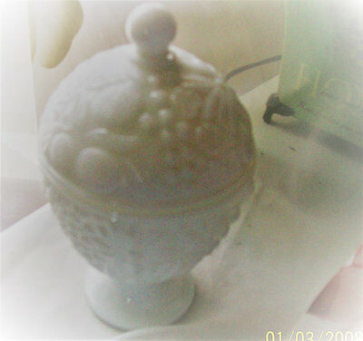 Avon milk glass candy dish pedestal milk glass candy dish with lid