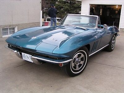 1966 Chevrolet Corvette Stingray 1966 Chevrolet Corvette Stingray Convertible Four Speed