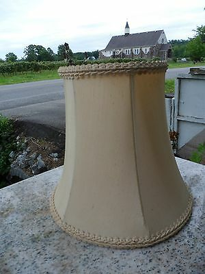 Vintage Fabric Lamp Light Shade Beige Ivory Silk Fabric Antique 8""
