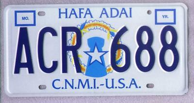 CNMI Commonwealth of the Northern Mariana Islands License Plate-MINT