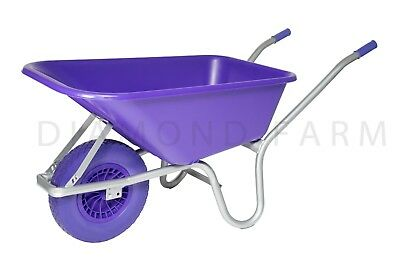 110L Equestrian Garden plastic Wheelbarrow with puncture proof wheel