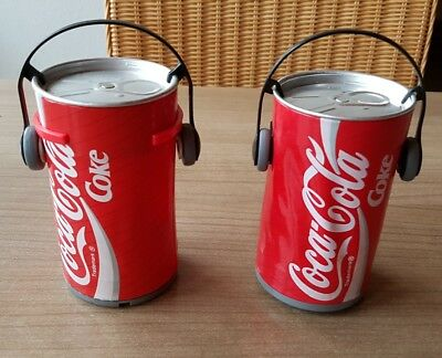 Hard to find coca cola Dancing cans. Two different. Very nice!
