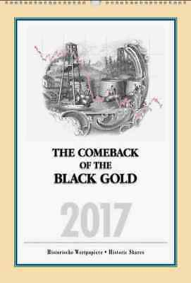 "USA Aktien Kalender 2017 ""The Comeback of the Black Gold"" Banknote Sunray DX Oil"