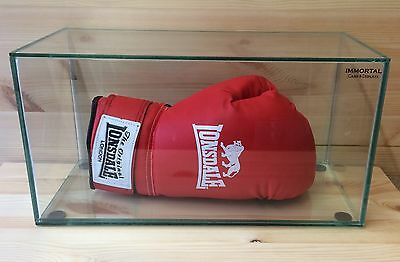 Boxing Glove glass display case autograph Taxidermy Sport Collectable antique