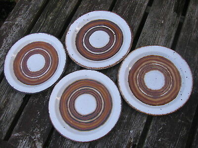 RARE VINTAGE RETRO MIDWINTER STONEHENGE EARTH SIDE PLATES x4