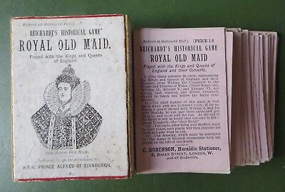 Antique Victorian Card Game, Royal Old Maid, Reichardt's Historical Game