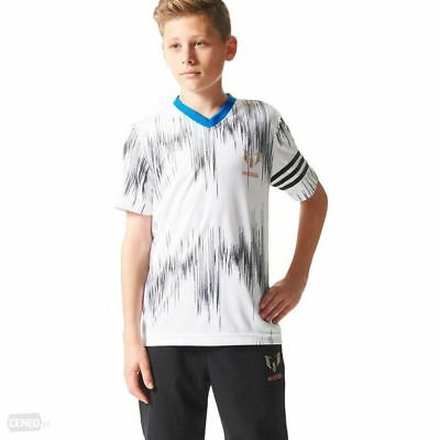 New adidas Messi AOP Boys Girls Kids T-Shirt top Age 5 / 10 Climalite sport gym
