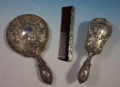 Chantilly by Gorham Grand Sterling Silver Dresser Set 3pc (#1909)