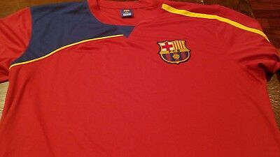 bd235449f Rare FCB Barcelona Soccer Jersey Mens Sz XL FC Football Shirt Spain Red