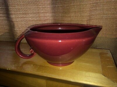 VTG Mid Century Vernon Ware Pottery Oxblood Burgundy Spouted Creamer MINTY