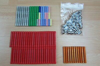 GEOMAG Bundle Job Lot Sticks Rods Spheres Long Short Orange Red Silver Pastel