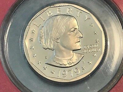 """1979-S Type 2 Susan B Anthony Dollar Cameo Gem Proof Clear """"S"""" RITE FROM PR SET"""