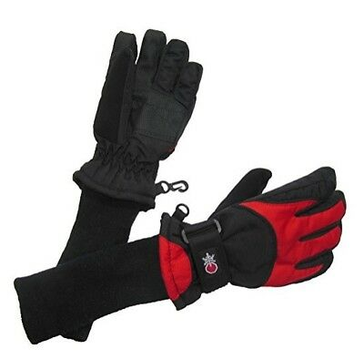 VERANDA OUTDOORS Boy's Snow Stoppers Gloves RED BLACK Large L NEW