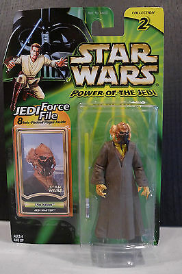 Star Wars - 2000 Power Of The Jedi Plo Koon Figure - Factory Sealed On Card!