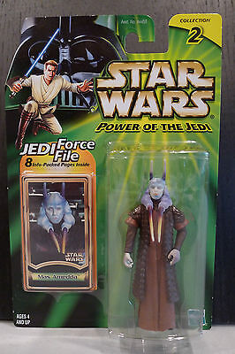 Star Wars - 2000 Power Of The Jedi Mas Amedda Figure - Factory Sealed On Card!