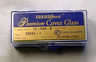 Fisherfinest™ Premium Cover Glass 22mm x 22mm  1 oz. Catalog No. 12-548-B