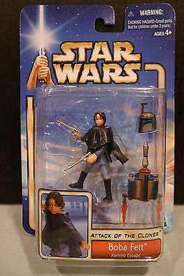 Star Wars - 2002 Saga Collection - Boba Fett Figure - Factory Sealed On Card!