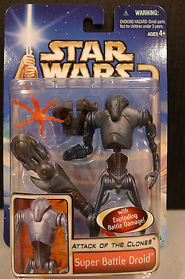 Star Wars - 2002 Saga Collection - Super Battle Droid Figure - Sealed On Card!