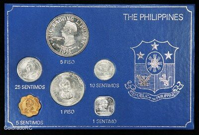 1975 Philippines 6-Coin Set