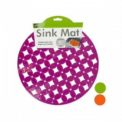 Decorative Round Sink Mat in 3 Assorted Colors Wholesale Lot of 12 Units New