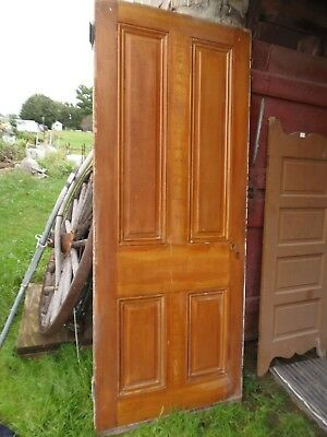 1800's Grain Painted Door Raised Panel 83 x 33 1/4