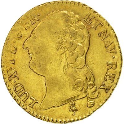 [#471725] France, Louis XVI, Louis d'or à la tête nue, 1786, Paris, TTB, Or