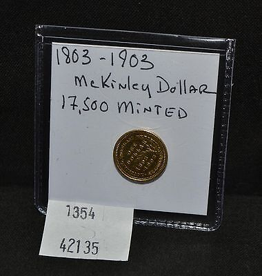 WPC ~ 1803 - 1903 McKinley Dollar US Gold Commemorative Coin 17.5k Minted