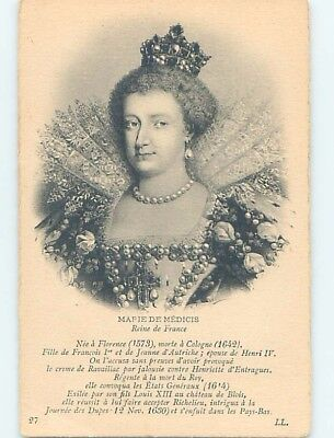 Pre-Linen foreign MARIE DE MEDICI - QUEEN OF FRANCE - KING HENRY IV WIFE HL9777