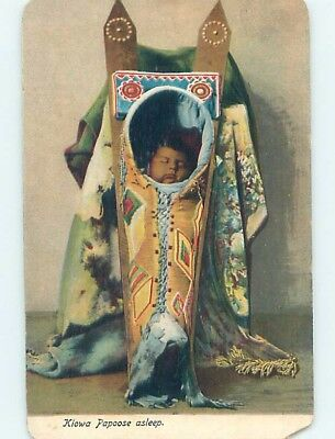Chipped 1904 KIOWA PAPOOSE ASLEEP - NATIVE AMERICAN INDIAN HL6851