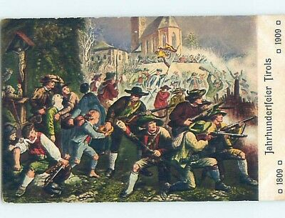 1909 foreign anniversary 1809–1909 MEN WITH GUNS - INNSBRUCK AUSTRIA HL7521