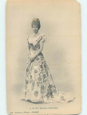 Corner Wear Pre-1907 royalty MARIA CHRISTINA - QUEEN OF SPAIN HL4240