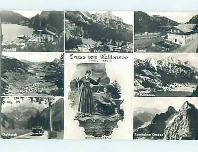 old rppc SEVEN VIEWS ON ONE POSTCARD Haldensee - Tyrol - Tirol Austria HM2047