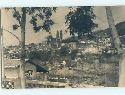 old rppc WIDE PANORAMIC VIEW OF TOWN Taxco - Guerrero Mexico HM1921
