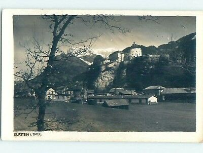 old rppc BUILDINGS BY THE MOUNTAIN Kufstein - Tyrol - Tirol Austria HM2014
