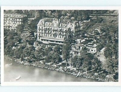 old rppc GRAND HOTEL CONTINENTAL Montreux - Lake Geneva Switzerland HM2156