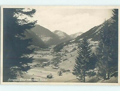 old rppc PANORAMIC VIEW OF TOWN Holzgau - Tyrol - Tirol Austria HM2053