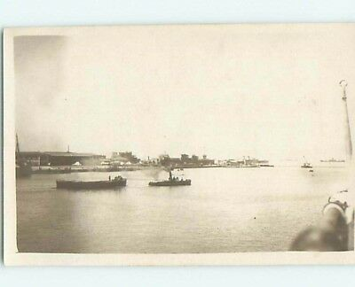 old rppc SUEZ CANAL LOOKING SOUTH Near Cairo Egypt HM2284