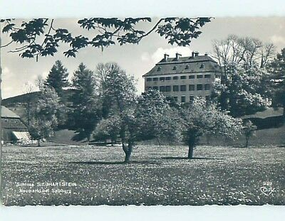 old rppc LARGE BUILDING WITH TREES Salzburg Austria HM2146