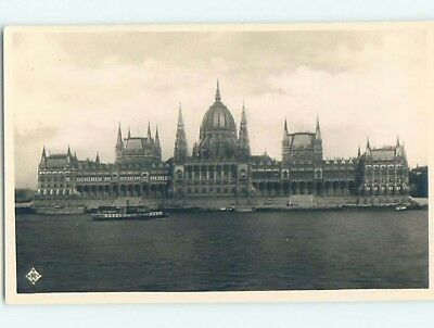 old rppc LARGE BUILDING Budapest Hungary HM1738