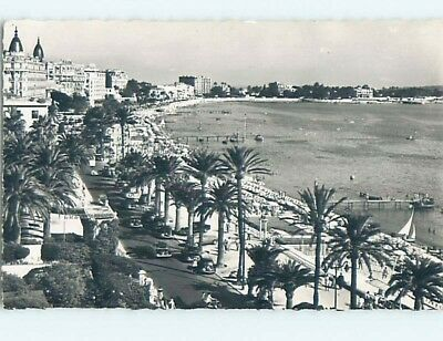 old rppc PANORAMIC VIEW OF CANNES French Riviera - Cote D'Azur France HM2348