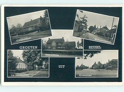 old rppc FIVE VIEWS Reusel North Brabant - Reusel-De Mierden Netherlands HM1977