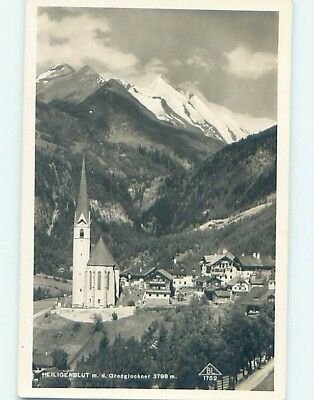 old rppc HOUSES BY THE CHURCH Heiligenblut - Spittal - Carinthia Austria HM1504