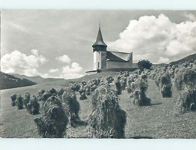 old rppc CHURCH SCENE Davos - Prattigau-Davos - Graubunden Switzerland HM1995