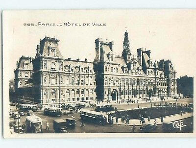 old rppc OLD BUSES AT DEVILLE HOTEL Paris France HM2302