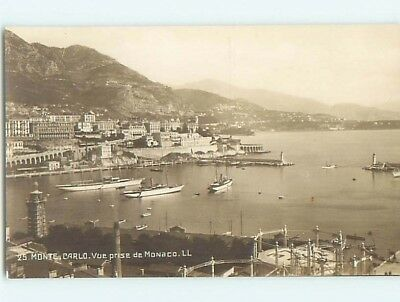 old rppc WIDE PANORAMIC VIEW OF TOWN Monte Carlo - Monaco France HM1905