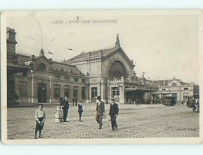old rppc TRAIN STATION Liege - Luik - Luttich Belgium HM1809