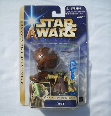 Star Wars Action Figure Yoda  Attack of the Clones AOTC